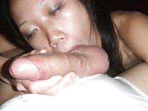 Asian Ball Licking Porn